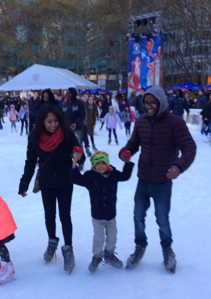 Skating @ NYC Bryant Park 2015