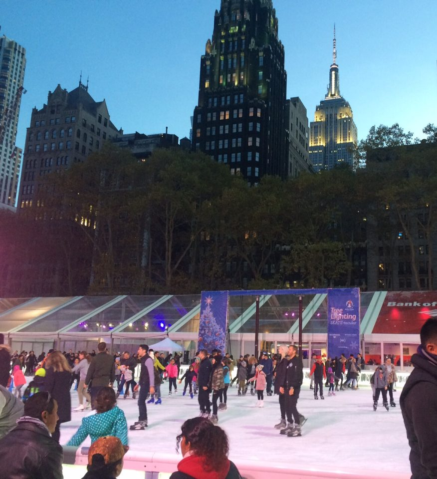 Skating @ NYC Bryant Park 2015