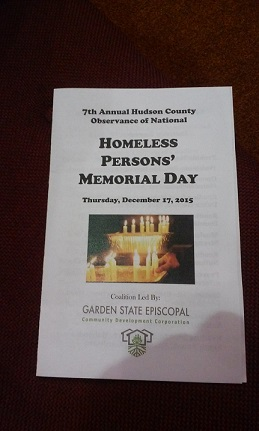 Interfaith Homeless Memorial Service